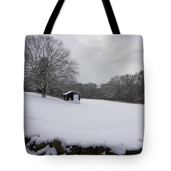 Snow Barn Tote Bag