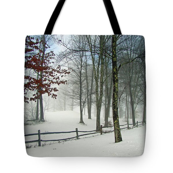 Snow Begins Tote Bag