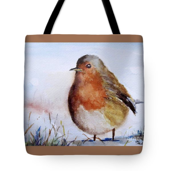 Snow Bird Tote Bag