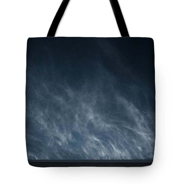 Tote Bag featuring the photograph Snow Blown Off A Roof by Dutch Bieber