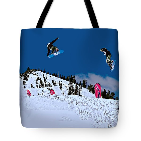 Snow Boarder Tote Bag