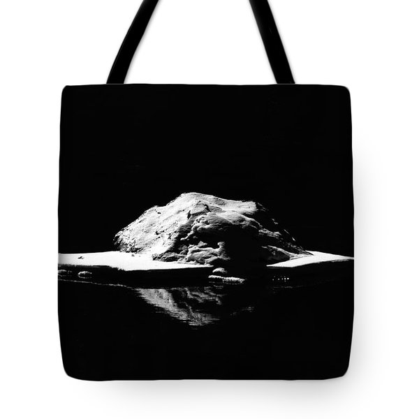 Tote Bag featuring the photograph Snow Boulder by Britt Runyon