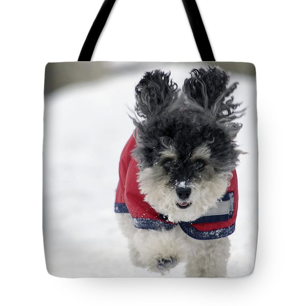 Snow Charge Tote Bag by Keith Armstrong