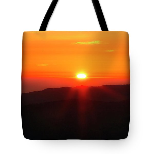 Snow Camp View 2 Tote Bag by Leland D Howard