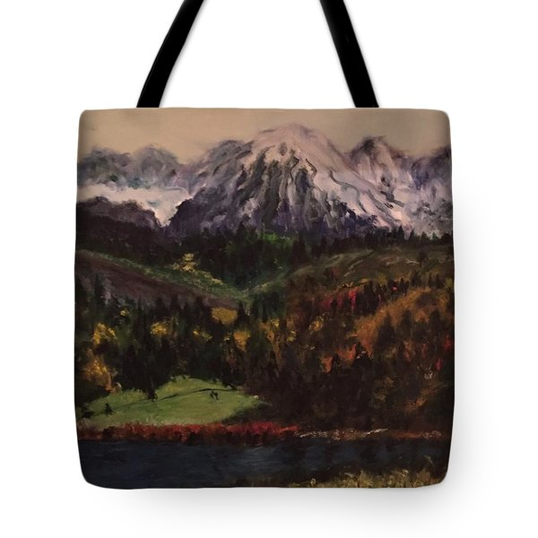 Snow Caped Mountain Tote Bag