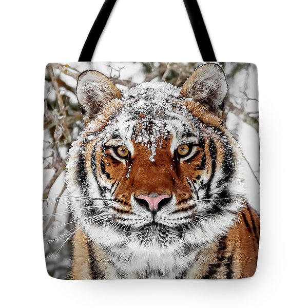 Snow Capped Siberian Tote Bag