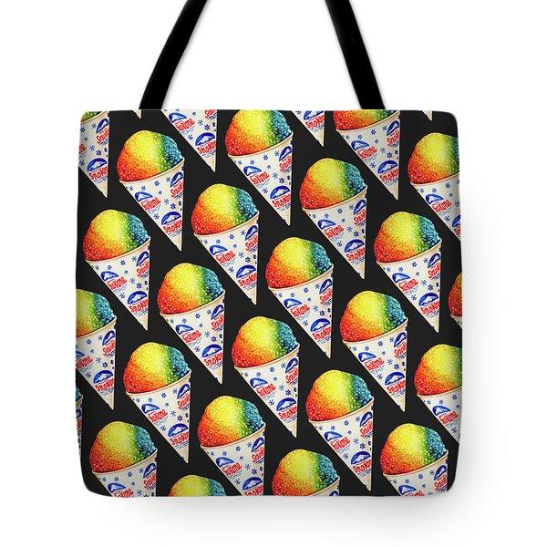 Snow Cone Pattern Tote Bag