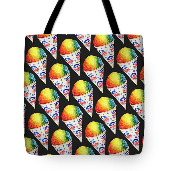 Snow Cone Pattern Tote Bag