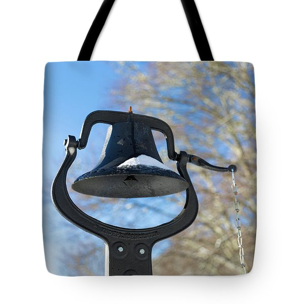 Snow Covered Bell Tote Bag