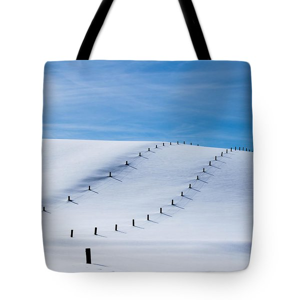 Snow Covered Pasture Tote Bag