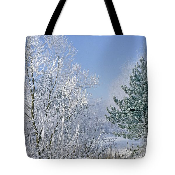 2a357 Snow Covered Trees At Alum Creek State Park Tote Bag