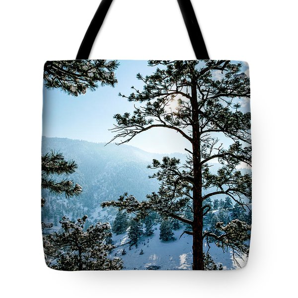 Snow-covered Trees Tote Bag