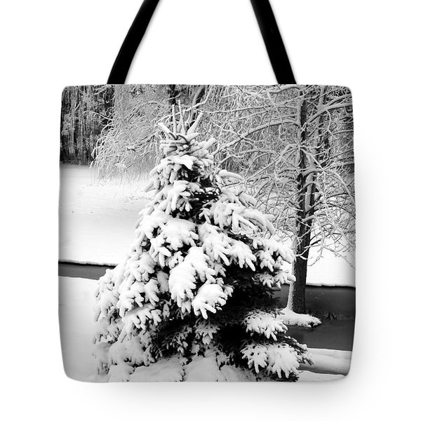 Snow Covered Trees Tote Bag by Kathleen Struckle