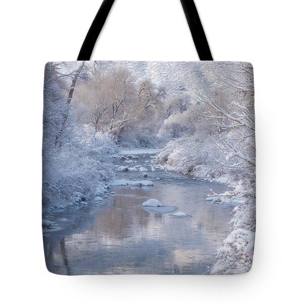 Snow Creek Tote Bag