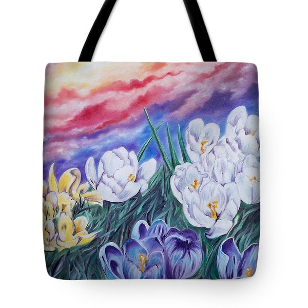 Flygende Lammet Productions      Snow Crocus Tote Bag