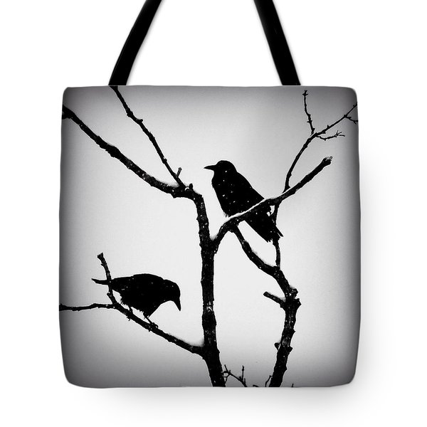 Snow Crows Tote Bag