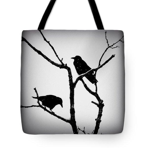 Snow Crows Tote Bag