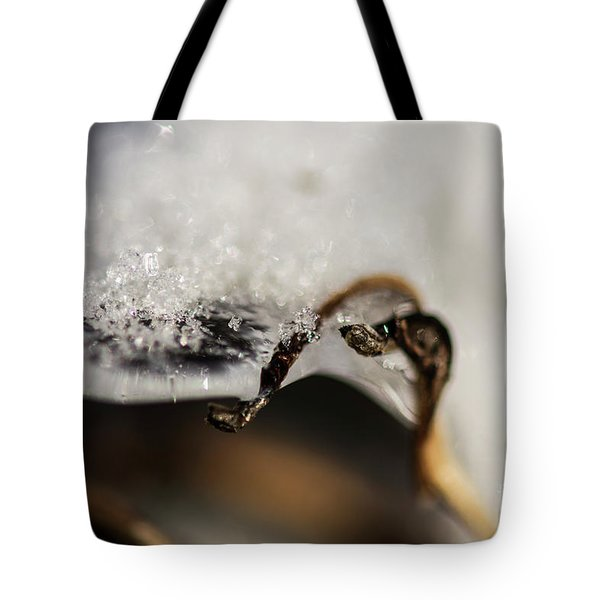 Snow Cryrstals Tote Bag
