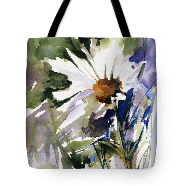 Tote Bag featuring the painting Snow Dance by Rae Andrews