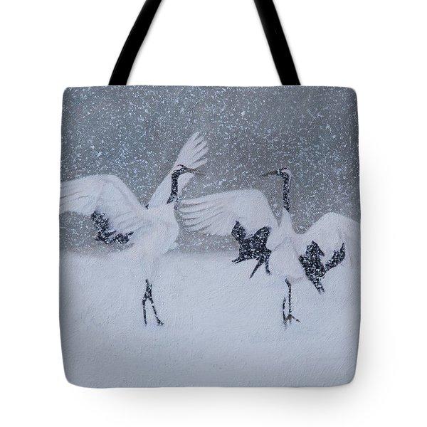 Snow Dancers Tote Bag