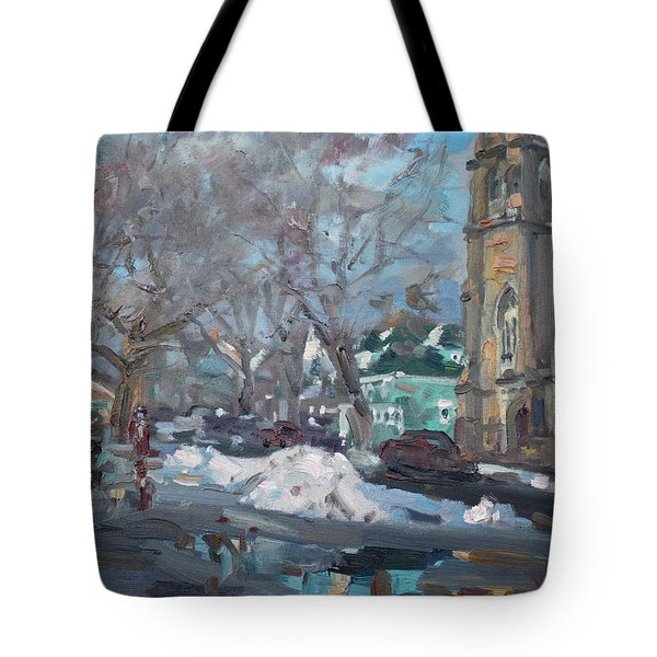 Snow Day At 7th St By Potters House Church Tote Bag