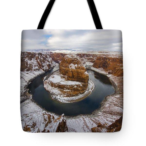 Snow Day Tote Bag by Dustin  LeFevre