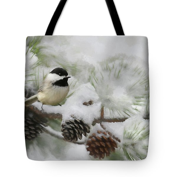 Tote Bag featuring the photograph Snow Day by Lori Deiter