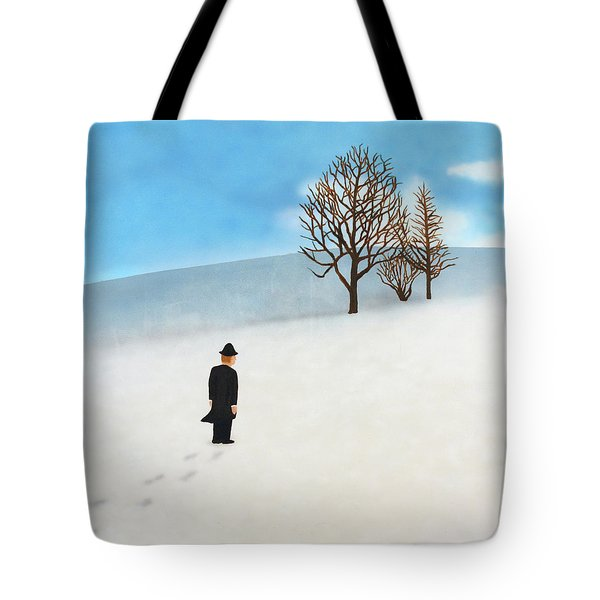 Snow Day Tote Bag by Thomas Blood