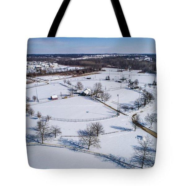 Snow Diamonds Tote Bag