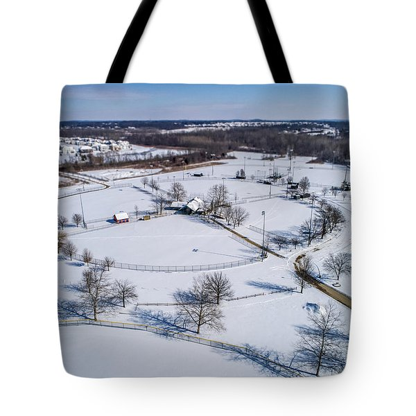 Snow Diamonds Tote Bag