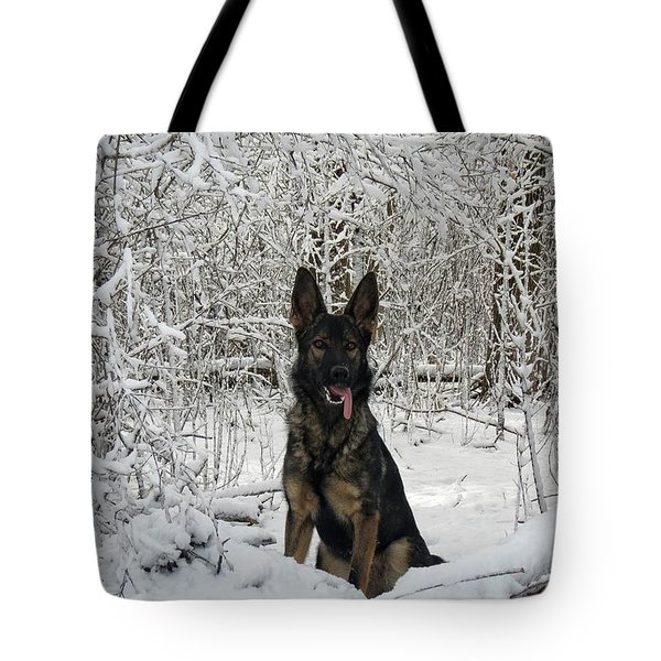Snow Dog Tote Bag