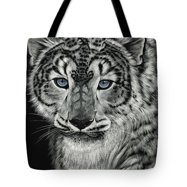 Snow Dragon Leopard Tote Bag