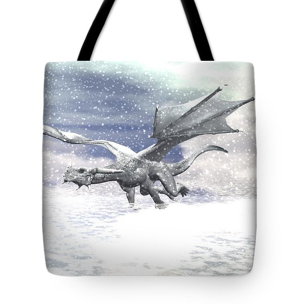 Snow Dragon Tote Bag by Michele Wilson