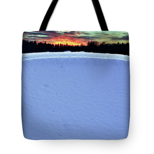 Snow Drift Tote Bag by Hannes Cmarits