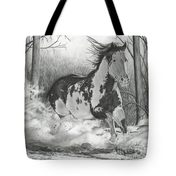 Snow Driftin' Tote Bag