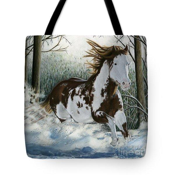Snow Driftin', Pastel Tote Bag