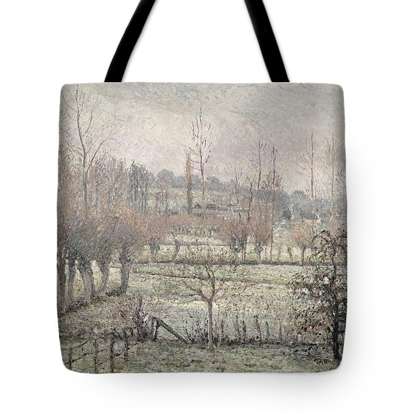 Snow Effect At Eragny Tote Bag by Camille Pissarro