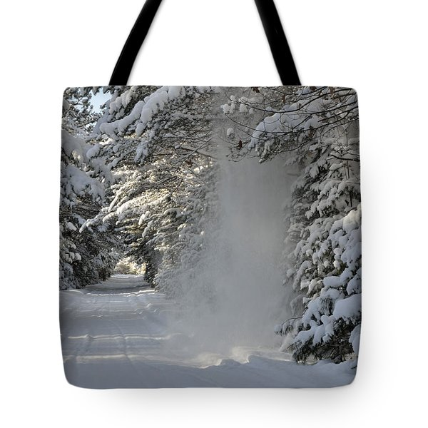 Snow Fall Tote Bag by Birgit Tyrrell
