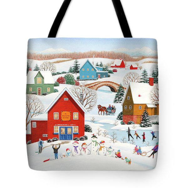 Snow Family  Tote Bag