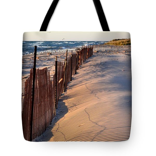Tote Bag featuring the photograph Snow Fences 4.0 by Michelle Calkins