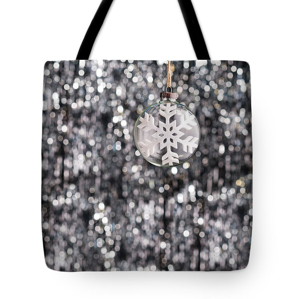 Tote Bag featuring the photograph Snow Flake by Ulrich Schade