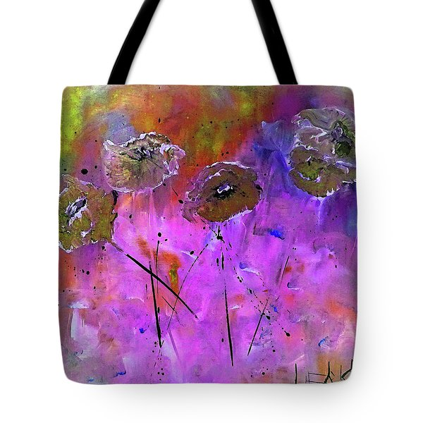 Snow Flowers Tote Bag by Lisa Kaiser