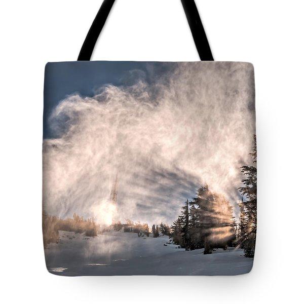 Snow Flume Tote Bag