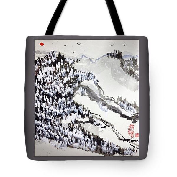Snow Forest Tote Bag
