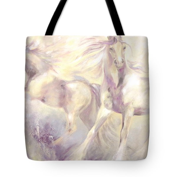 Tote Bag featuring the painting Snow Gypsies by Dina Dargo