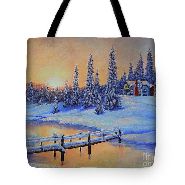 Snow Home Tote Bag