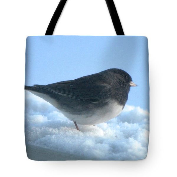 Snow Hopping #1 Tote Bag