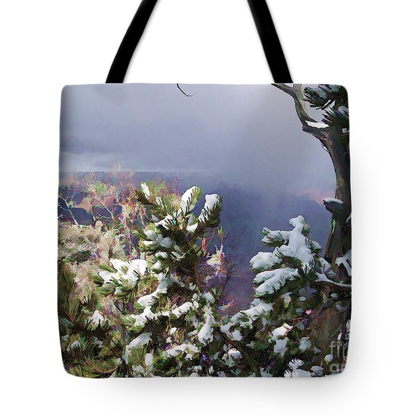 Snow In The Canyon Tote Bag