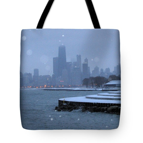 Snowy Chicago Tote Bag