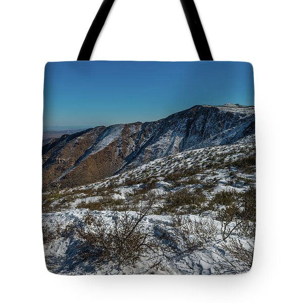 Snow In The Rain Shadow Tote Bag